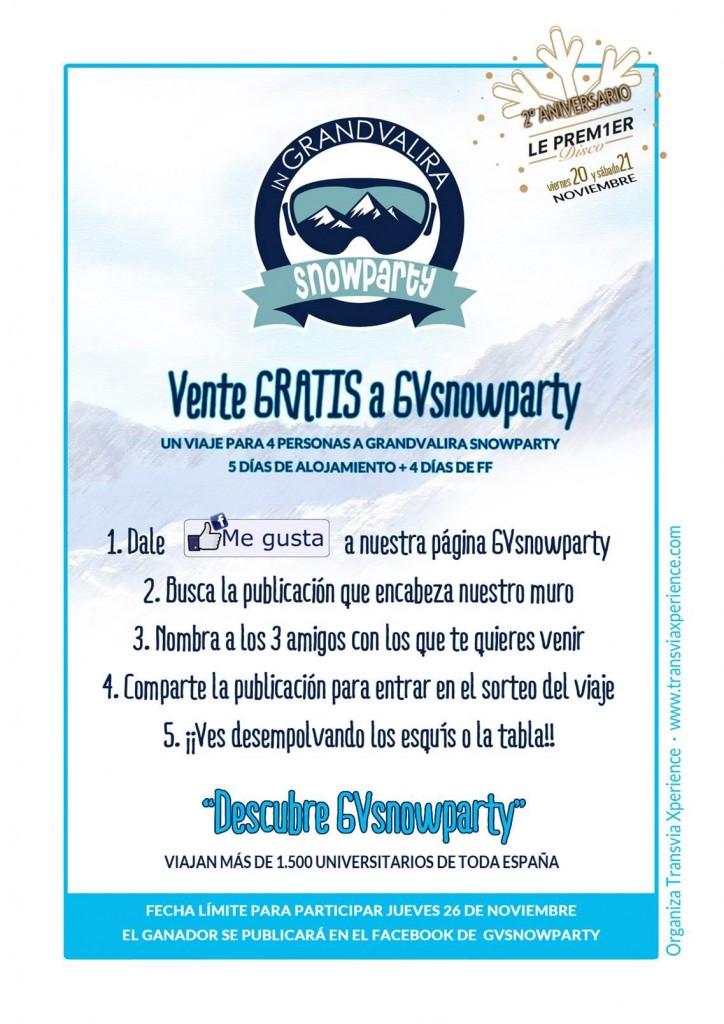 Gana un viaje a GV Snowparty
